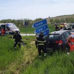 Quattro feriti nello scontro tra due auto, uno trasferito a Torrette con l'eliambulanza