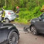 Nel pomeriggio tre auto coinvolte in un incidente alla periferia di Treia