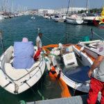 Imbarcazione affonda nel porto turistico, recuperata dai Vigili del fuoco / Video