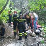 Colpito da una pietra nel percorso dell'Infernaccio, soccorso e trasportato al Mazzoni di Ascoli