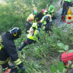 Precipita in un dirupo, una donna soccorsa e ricoverata all'ospedale di Torrette