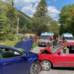 Due feriti nello scontro tra auto, una donna trasferita a Torrette con l'eliambulanza
