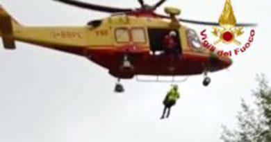 Escursionista si infortuna a Passo San Paolo, soccorso dai Vigili del fuoco / Video